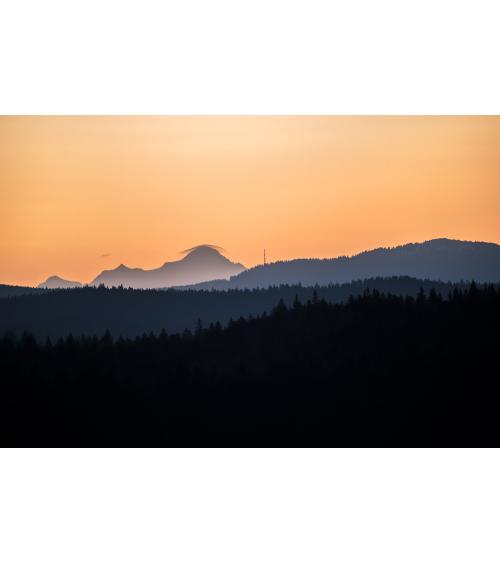 Paysage du mont blanc depuis le Jura