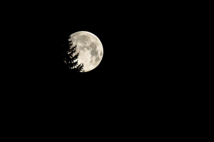 Pleine lune dans le Jura